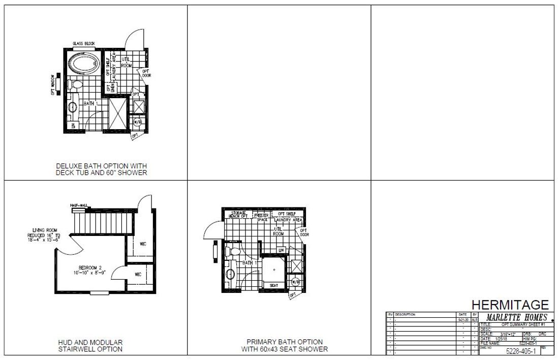 The HERMITAGE 5228-405-1 Floor Plan