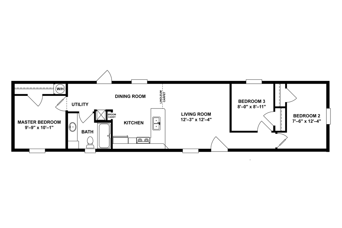The BEECH 6414-60 Floor Plan