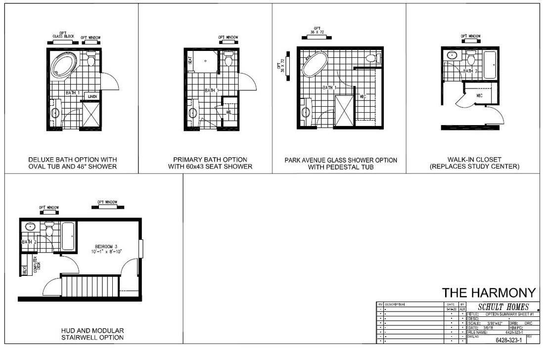 The HARMONY 6428-323-1 Floor Plan