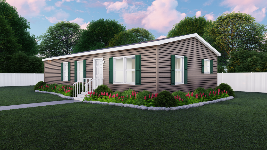 The BERKELEY 4824-2510 Exterior. This Manufactured Mobile Home features 3 bedrooms and 2 baths.