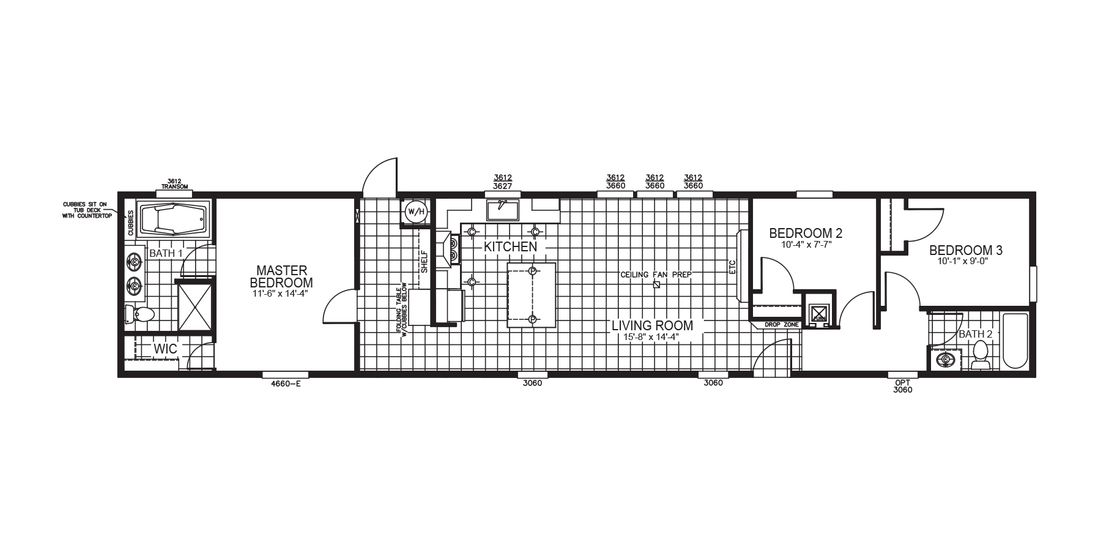 The VISION 76S Floor Plan