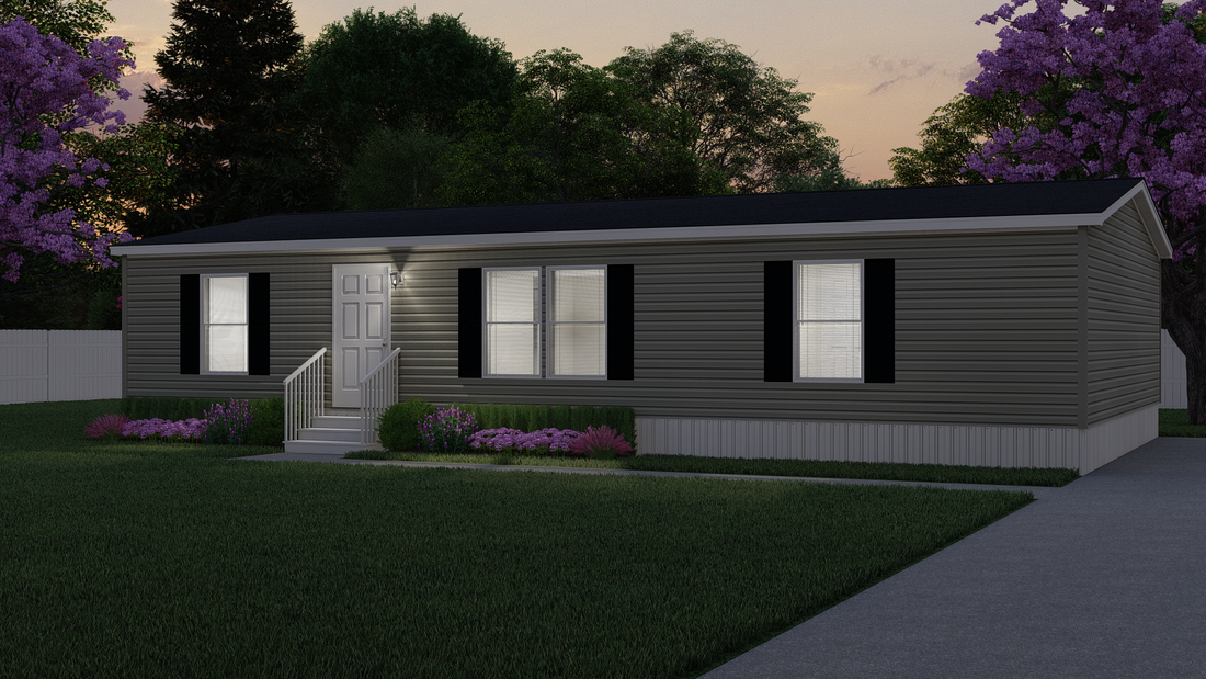 The AMETHYST Exterior. This Manufactured Mobile Home features 3 bedrooms and 2 baths.