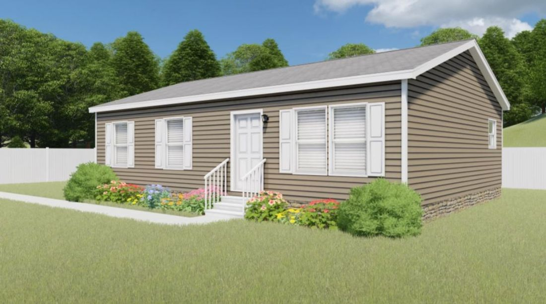 The REDWOOD 3828-38 Exterior. This Manufactured Mobile Home features 3 bedrooms and 1 bath.
